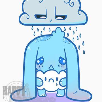 Sad bunny is sad by HappyMassacre