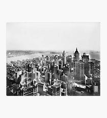 Lámina fotográfica Vintage Lower Manhattan Skyscraper Photo (1913)