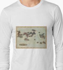 Vintage Map of The Virgin Islands (1823) Long Sleeve T-Shirt