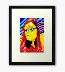 Vee's Pop Art: Shannon Framed Print