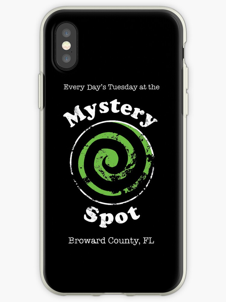 ec12b632445 'Welcome to the Mystery Spot. ' iPhone Case by Snellby