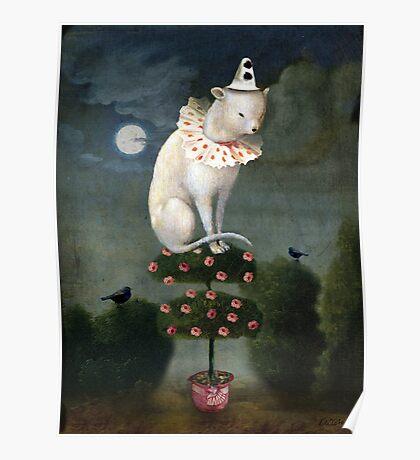 Harlekin Cat Poster