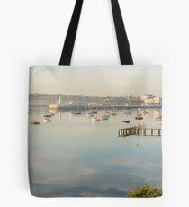 Still, Foggy Corio Bay Tote Bag