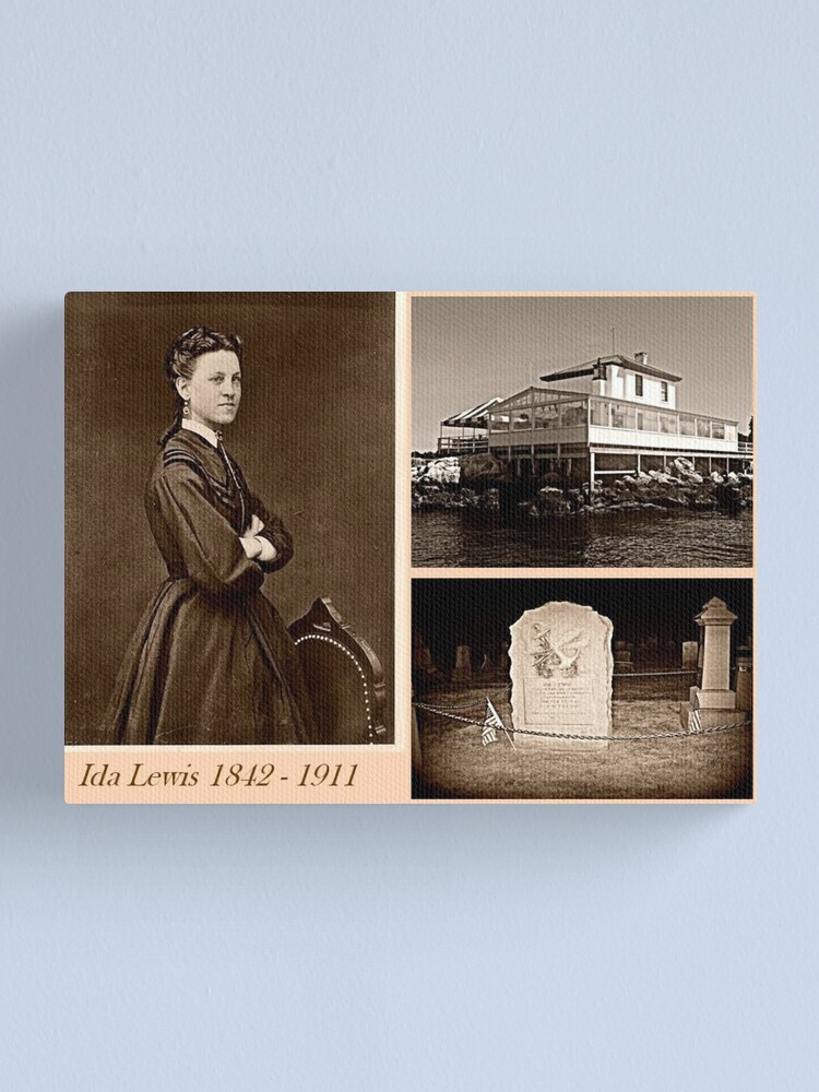 Alternate view of Ida Lewis, heroic Lighthouse Keeper Canvas Print