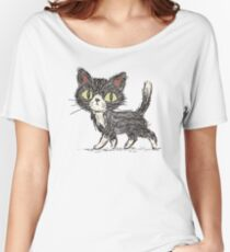 Rough sketch of a cat Women's Relaxed Fit T-Shirt