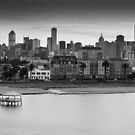 Melbourne from the Bay by Michael Selge
