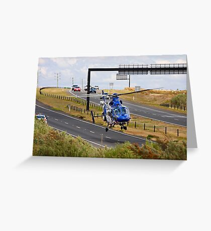 Highways are for Helicopters too Greeting Card