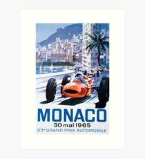 Monaco F1 Classic 1965 Art Print