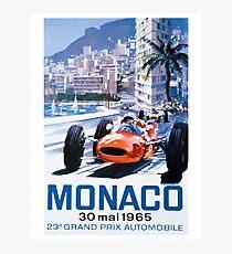 Monaco F1 Classic 1965 Photographic Print