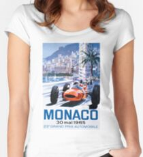 Monaco F1 Classic 1965 Women's Fitted Scoop T-Shirt