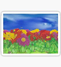 'Little Critters in Gerberas' Sticker