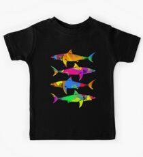 Camiseta para niños Tiburones coloridos