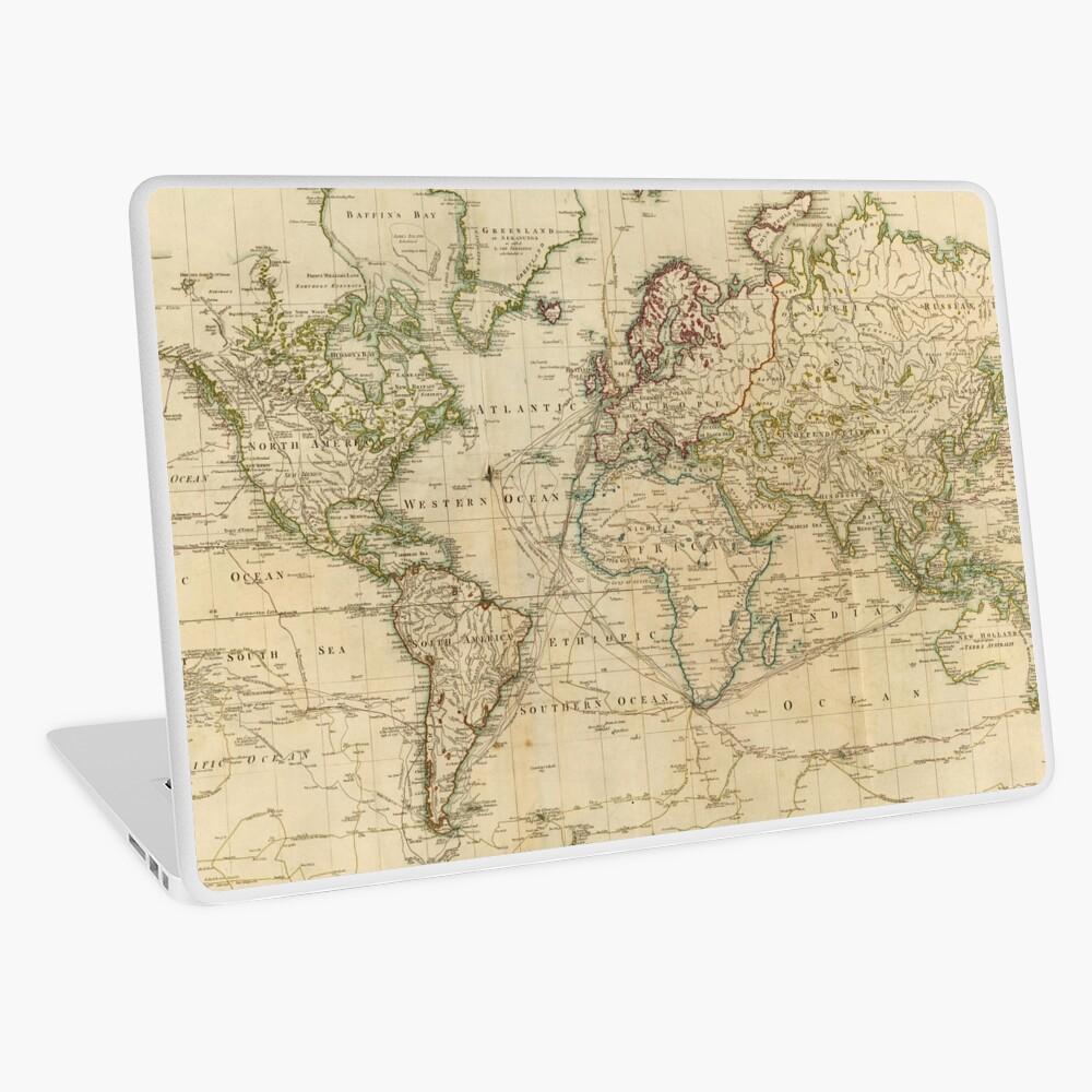 Vintage Map of The World (1800)   Laptop Skin