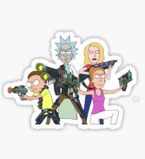 Rick and Morty-- Gun fight Sticker