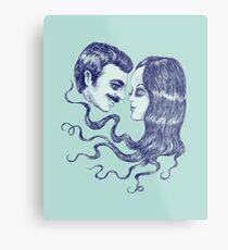 Creepy Love Metal Print