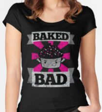 Bad Cupcake 2: Baked Bad Women's Fitted Scoop T-Shirt