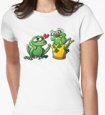 Princess is a Frog Now Womens Fitted T-Shirt