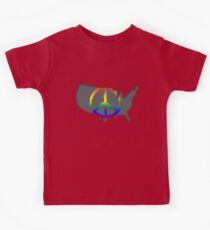 Peace in the US T-Shirt Kids Tee