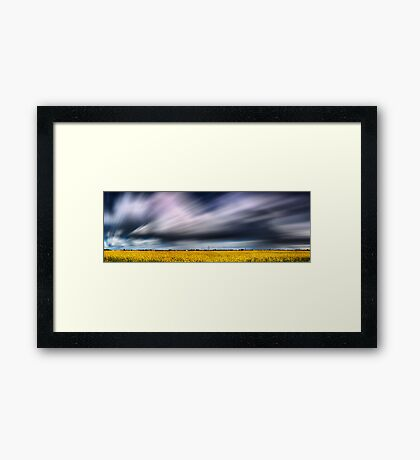 Running Against The Wind Framed Print