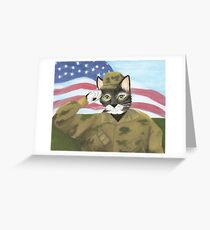 US Army Cat Greeting Card