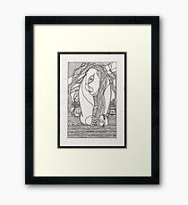 drunk woman Framed Print