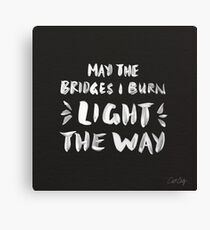 Burned Bridges – Black & White Canvas Print
