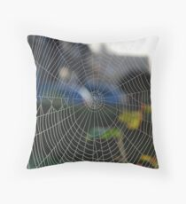 Silky Snare. Throw Pillow