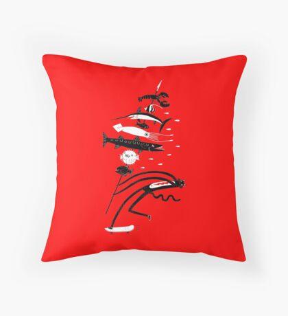 Fish Kabob Throw Pillow
