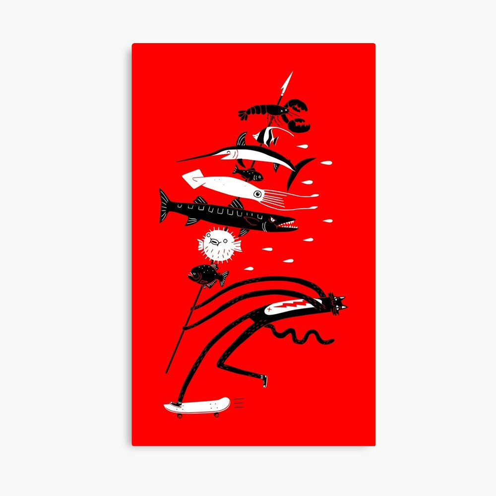 Fish Kabob Canvas Print