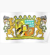 Wolpertinger Coat of Arms  Poster