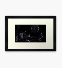 Full Moon On A Windy Night  3 Framed Print