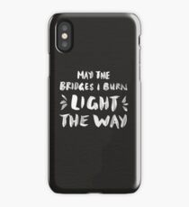 Burned Bridges – Black & White iPhone Case