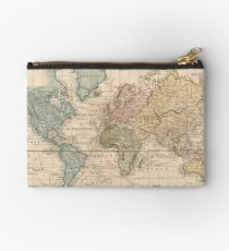 Vintage Map of The World (1823) 2 Studio Pouch
