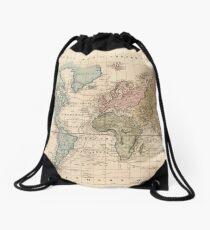 Vintage Map of The World (1823) 2 Drawstring Bag