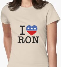I Heart Ron Women's Fitted T-Shirt