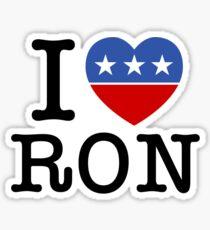 I Heart Ron Sticker