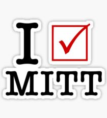 I Vote Mitt Sticker