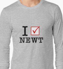 I Vote Newt Long Sleeve T-Shirt