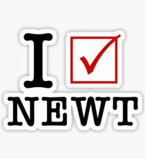 I Vote Newt Sticker