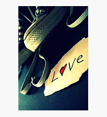 Shoe with Love note Photographic Print