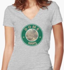 Dome Women's Fitted V-Neck T-Shirt
