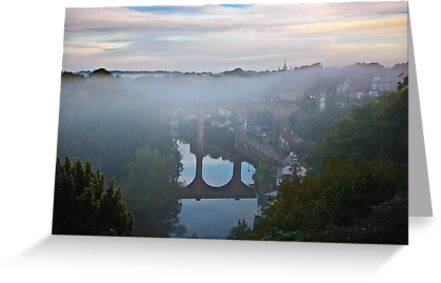 Early morning mist over the river by David Milnes