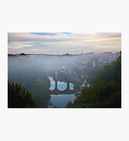 Early morning mist over the river Photographic Print