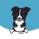 Peeking Border Collie by offleashart
