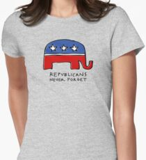 Republicans Never Forget Women's Fitted T-Shirt