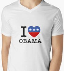 I Heart Obama Men's V-Neck T-Shirt