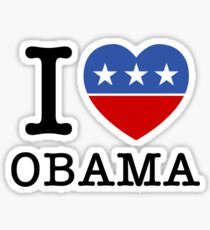 I Heart Obama Sticker