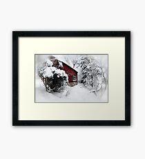 Red Barn Abandoned  Framed Print