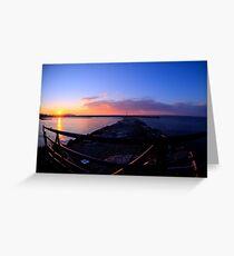 Sackets Harbor Sunset Greeting Card