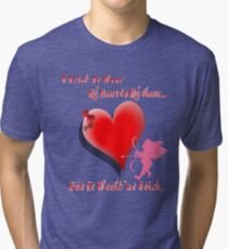 Wanted My Heart On My Sleeve Tri-blend T-Shirt